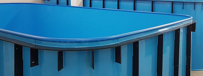 Silnější lem bazénu pro zpevnění
