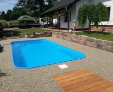 Realizace bazénu bez zastřešení