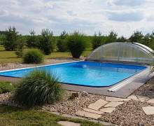 Realizace bazénu se zastřešením